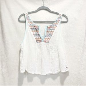 Hollister Embroidered Boxy Crop Top